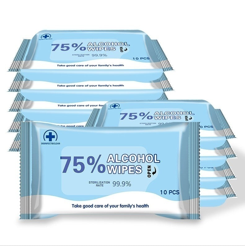 10/50PCS Household Disposable Wet Wipes Disinfection Medical Supplies Sterilization 99.9% Hand Care Health&wellness