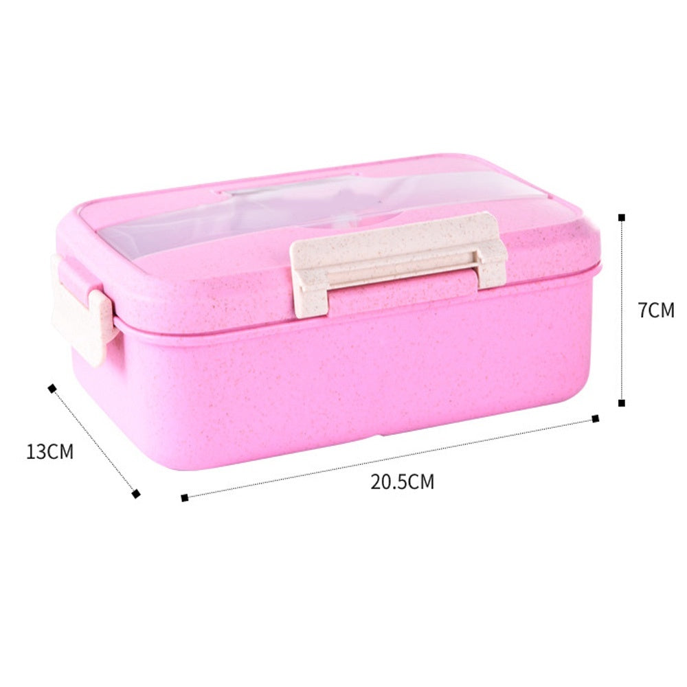 1 Pcs Portable Lunch Box Independent Lattice Food Container Box Bento Box Insulation Meal Lunch Box