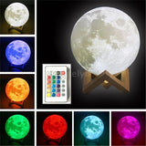Romantic 3D USB LED Magical Moon Light Moon Lamp 16 Color Changing Remote Control Night Light Touch Sensor