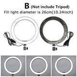 Upgrade Led Light Tripod Ring Light Led Lights 16/26cm Led Ring Light Tripod Light Led Ring Light with Stand Photography LED Selfie with 50/160cm Tripod Ring Fill Light (6 Size for Choice)