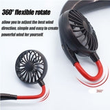 Personal Fan USB Rechargeable Handsfree Neckband Fan Outdoor Sports Mini Fan