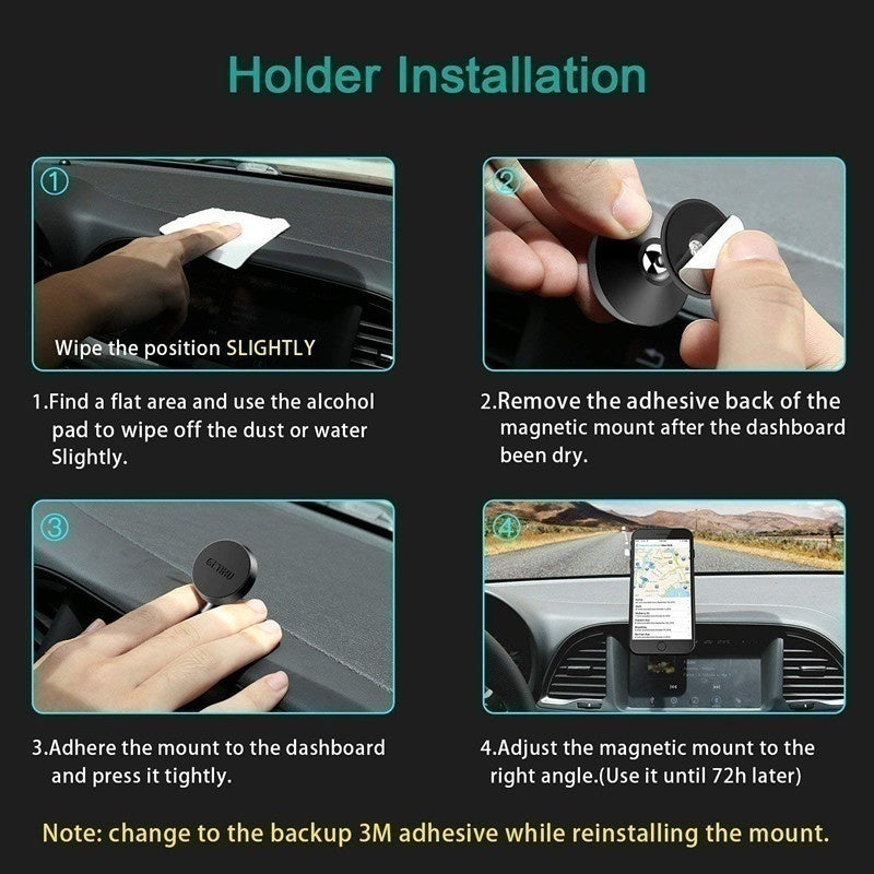 360 Magnetic Air Vent Mount Degree Universal Car Phone Holder Cell Phone Car Mobile Phone Holder Stand Mobile Phone Accessories Car Accessories