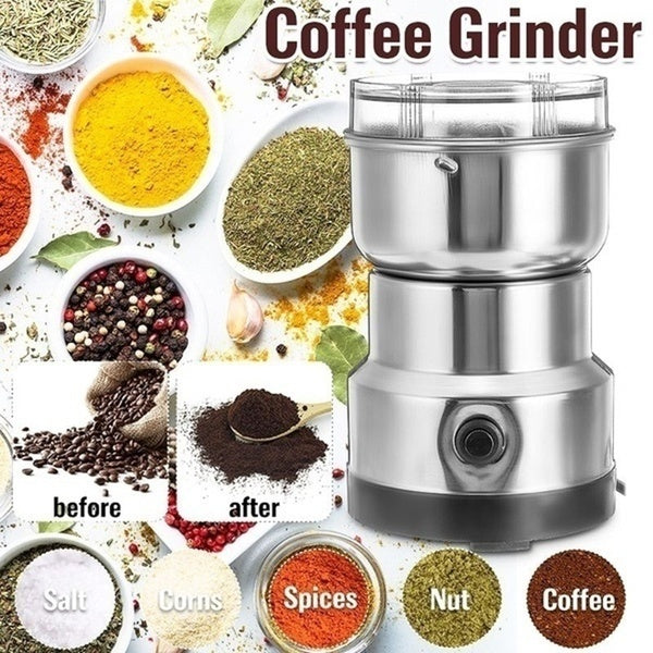 Multi-Functional Coffee Grinder Stainless Electric Herbs/Spices/Nuts/Grains/Coffee Bean Grinding