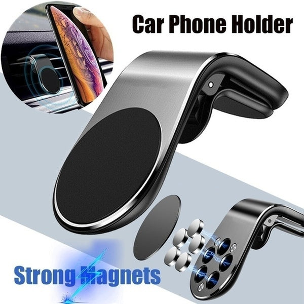 Metal Magnetical Car Phone Holder Mini Air Vent Clip Mount Magnet Mobile Stand Smartphones in Car