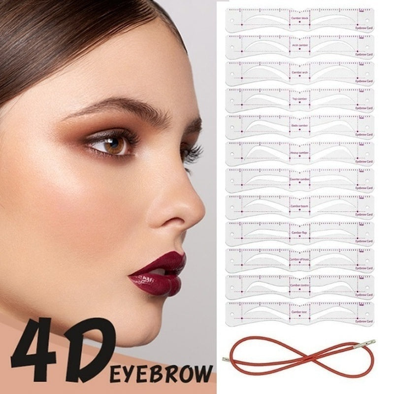 2020 New 12Pcs/set Reusable Eyebrow Stencil Set Eye Brow DIY Drawing Guide Styling Shaping Grooming Template Card Easy Makeup Mask