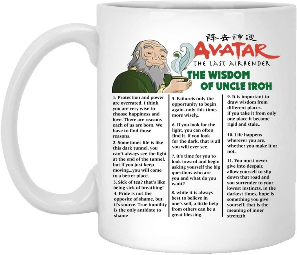 Avatar the Last Airbender the Wisdom of Uncle Iroh Coffee Mug 11oz