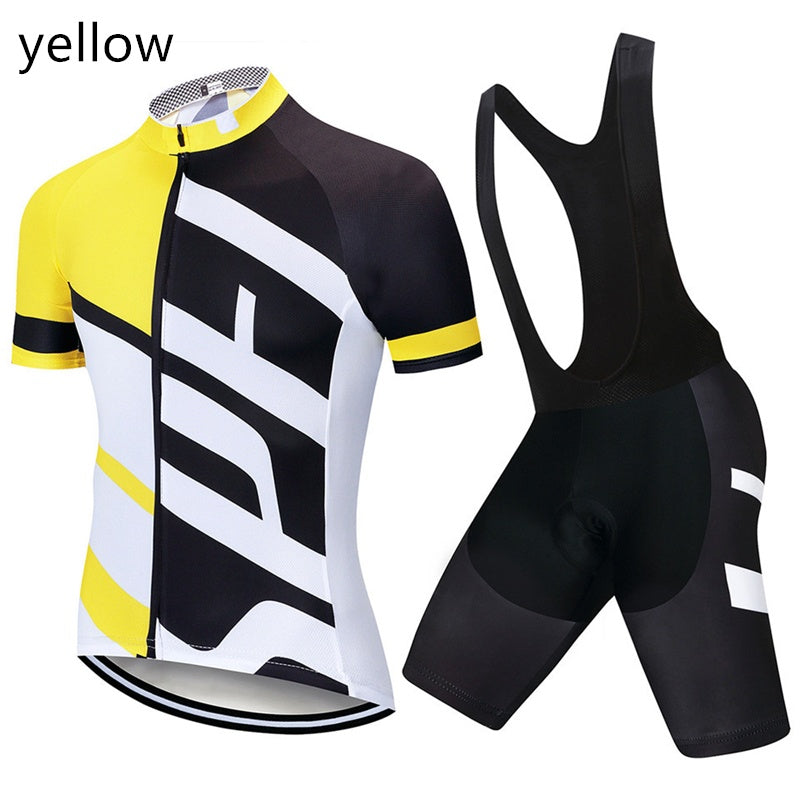 2020 Classic lightning cycling Suit summer men's short sleeved suit mountain bike cycling suit cycling trousers