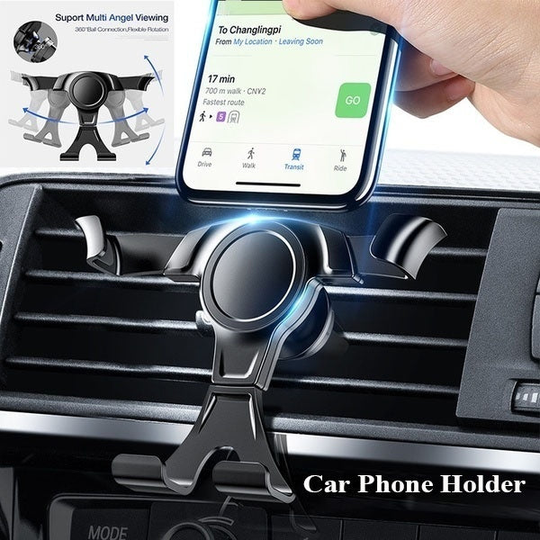 New Universal Car Phone Holder For Phone Gps Car Gravity Air Vent Mount Stand Air Outlet Phone Bracket Support