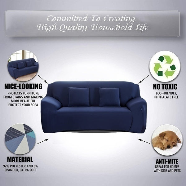 New Upgrade 15 Solid Color CornerElastic Solid Color Sofa Cover Spandex Modern Polyester Corner L Shape Sofa Slipcovers Sofa Protector Living Room Housse De Canapé Copridivano 1/2/3 Seater