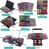HOT Matte Eyeshadow Palette Blush Cosmetic Eye Shadow Eyebrow Powder With Mirror (252/180/162/142/123/120/40 COLORS