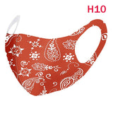 New Fashion Breathable Ice Silk Face Mask Paisley Fashion Bandana Reusable Washable Protection Cover