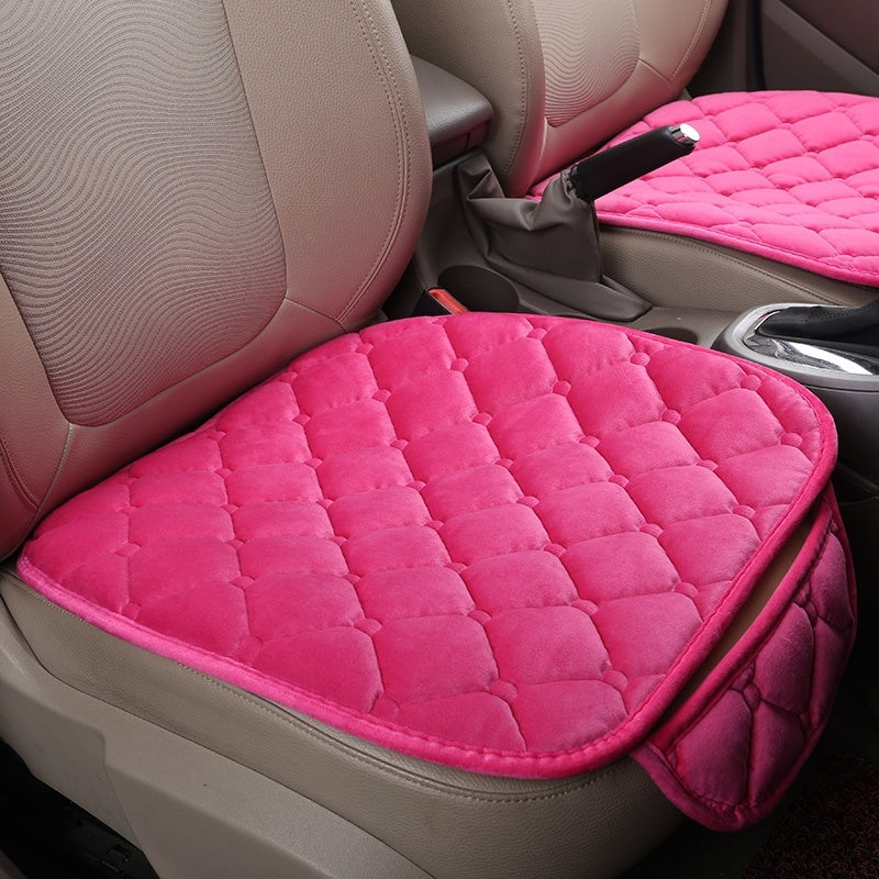 Universal Plush Car Seat Covers Auto Front Backrest Seat Cushion Protector Pad Car Seat Mats Interior Accessories For Car Seat Covers For Women Men(Black/Begie/Pink/Grey/Light Pink)