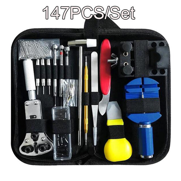1/16/147PCS Watch Repair Kit Watchmaker Back Case Opener Link Remover Spring Pin Bar Tool