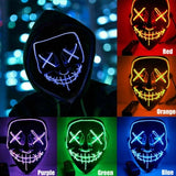 2021 Newest 11 Colors Halloween Mask LED Light Up Party Masks The Purge Election Year Great Funny Masks Festival Cosplay Costume Supplies Glow In Dark
