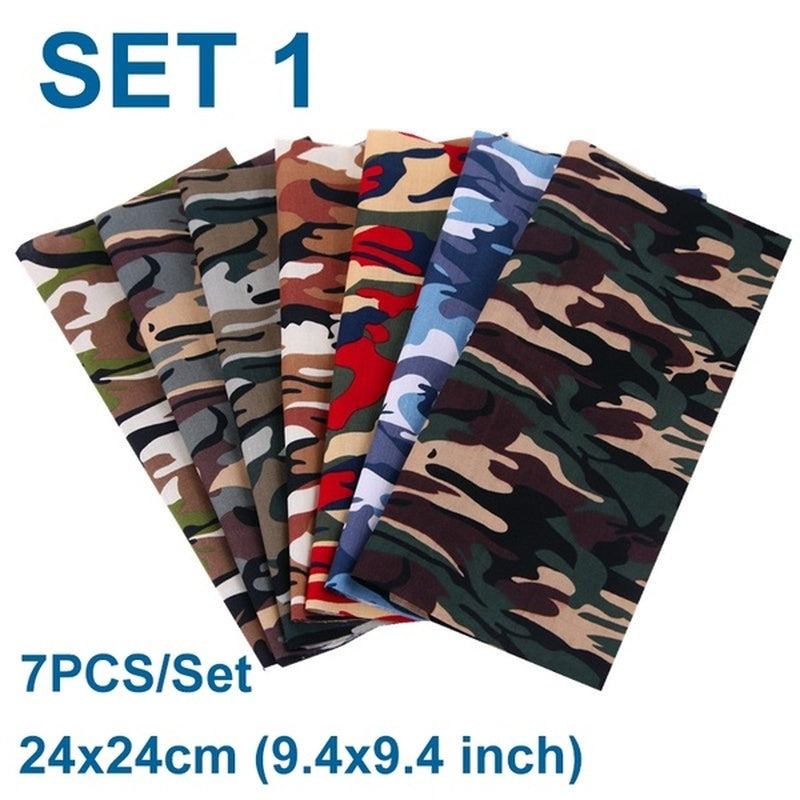 Pre-Cut Cotton Camouflage Fabric Assorted Pre-Cut Bundle Cotton Quilt Military Fan Fabric Quilting Patchwork Accessories Knitting Supplies