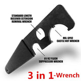 Multifunction AR Model Combo Steel Wrench Tool AR 15 / M4 Field Heavy Duty Wrench Tool Metal AR Wrench Accessories