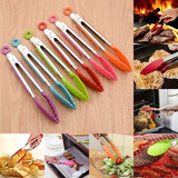 Stainless Steel Silicone Kitchen Tongs BBQ Clip Salad Bread Cooking Food Serving Tongs Kitchen Tools