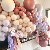 105pcs Retro Bean Pink Balloon Garland for Girl Birthday Party Decorations