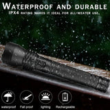 New 300W Bright XHP90 Most Powerful LED Flashlight XLamp USB Rechargeable Tactical Light 18650 Zoom Torch Camping Lamp