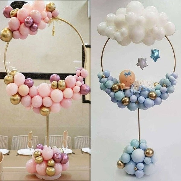 1/2/3PCS Removable Portable Arches Ballon Display Support Kits Balloons Wreath Ring Balloon Stand Arch for Wedding Decoration Baby Kids Birthday Party Decor