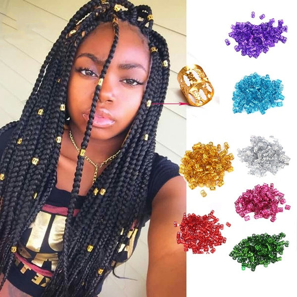 Colorful Hair Braiding Beads Rings Hair Styling Decoration Tools