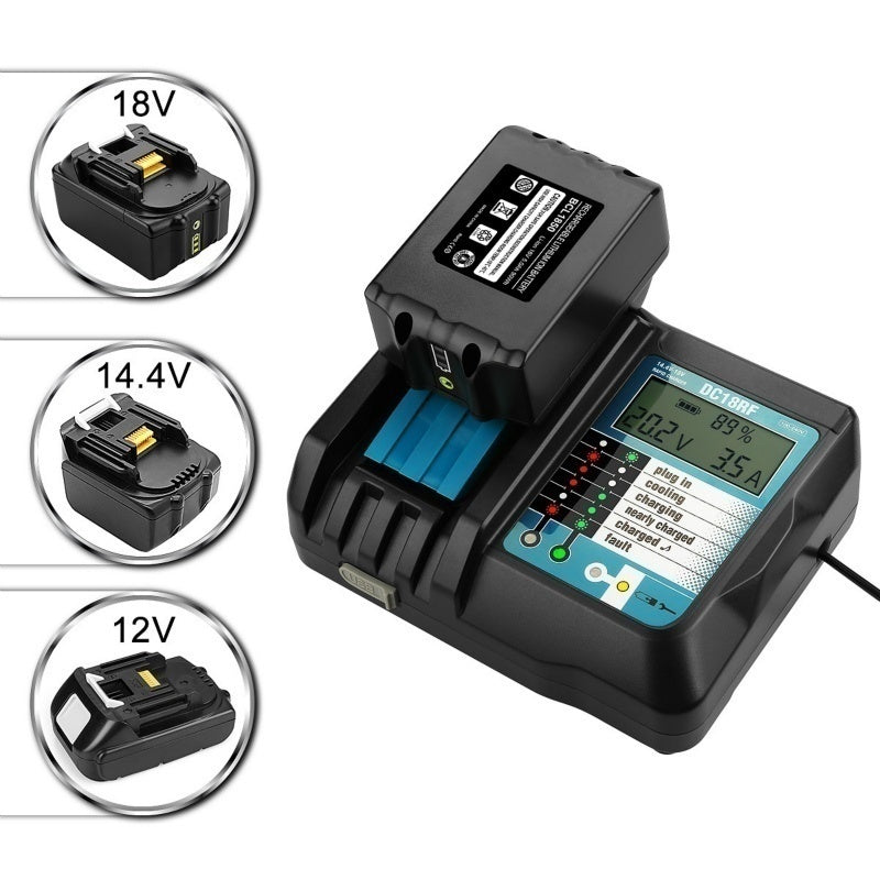 For Makita 14.4V / 18V Current Indicator USB Connection DC18RC Multi-functional Battery Charger (With display and without display)