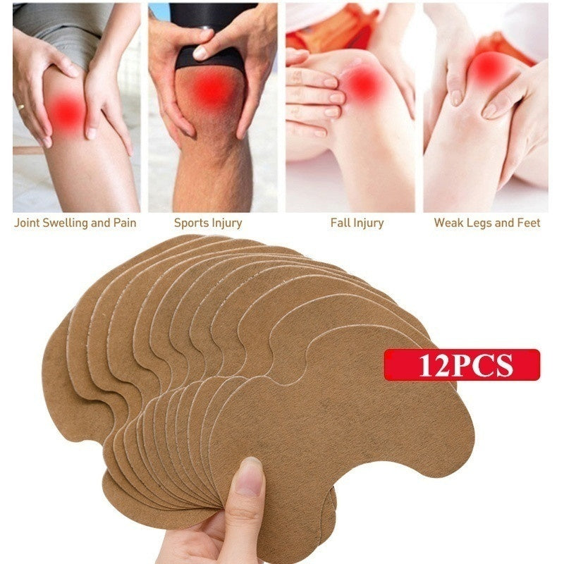 20/12/4pcs Knee Medical Plaster Wormwood Extract Knee Joint Ache Sticker Knee Rheumatoid Arthritis Body Pain Relieving Patch
