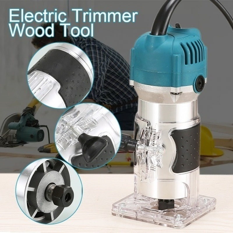 The Newest 1500/3000W Electric Aluminum/Plastic Wood Trimmer Grinder Milling Trimmer Cutter Polishing Woodworking DIY Tool (Optional 15Pcs 1/4 Router Bits) Choose US/EU/AU PLUG