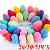 5/10/20PCS Makeup Sponge Water Droplets Gourd Shape Cosmetic Puff Grow Bigger In Water Smooth Flawless Foundation Puff Powder for Face Coverup