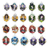 15 Styles New Anime Cosplay Accessories Twisted Wonderland Riddle Rosehearts Double Side Acrylic Toys Keychains Key Pendant