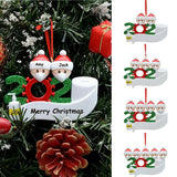 2020 Christmas Party Decoration Gift Santa Claus with Mask Personalized Hanging Ornament