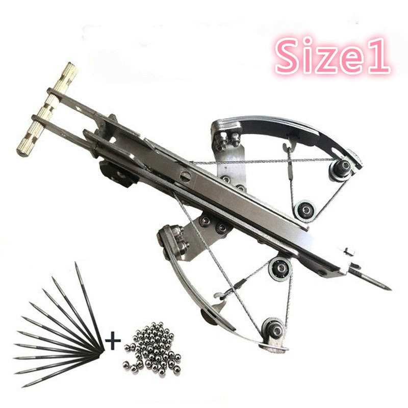 2020 NEW Outdoor Powerful Hunting Fish Crossbows Camping Tactical  Aluminum Alloy Material Tool Stainless Steel Shooting Toy Gift with 6 Mm Arrow