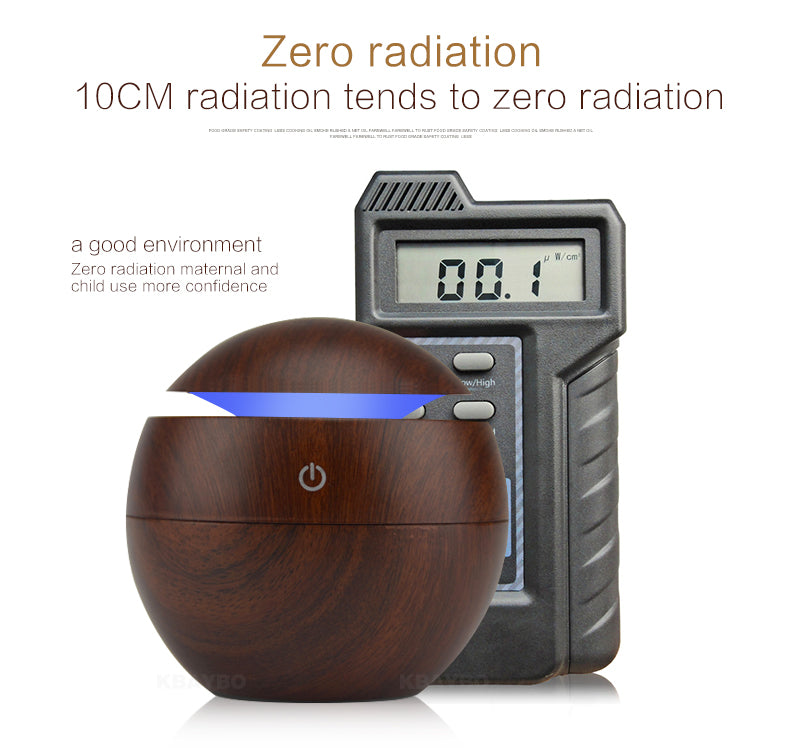 ultrasonic wooden diffuser humidifier 7 led lights - Homevioo - humidifier