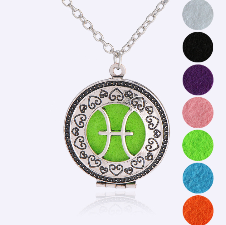 Zodiac essential oil diffuser necklaces - Homevioo - necklace