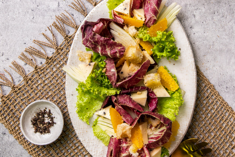 Radicchio, Fennel, Pepper Caciotta Salad