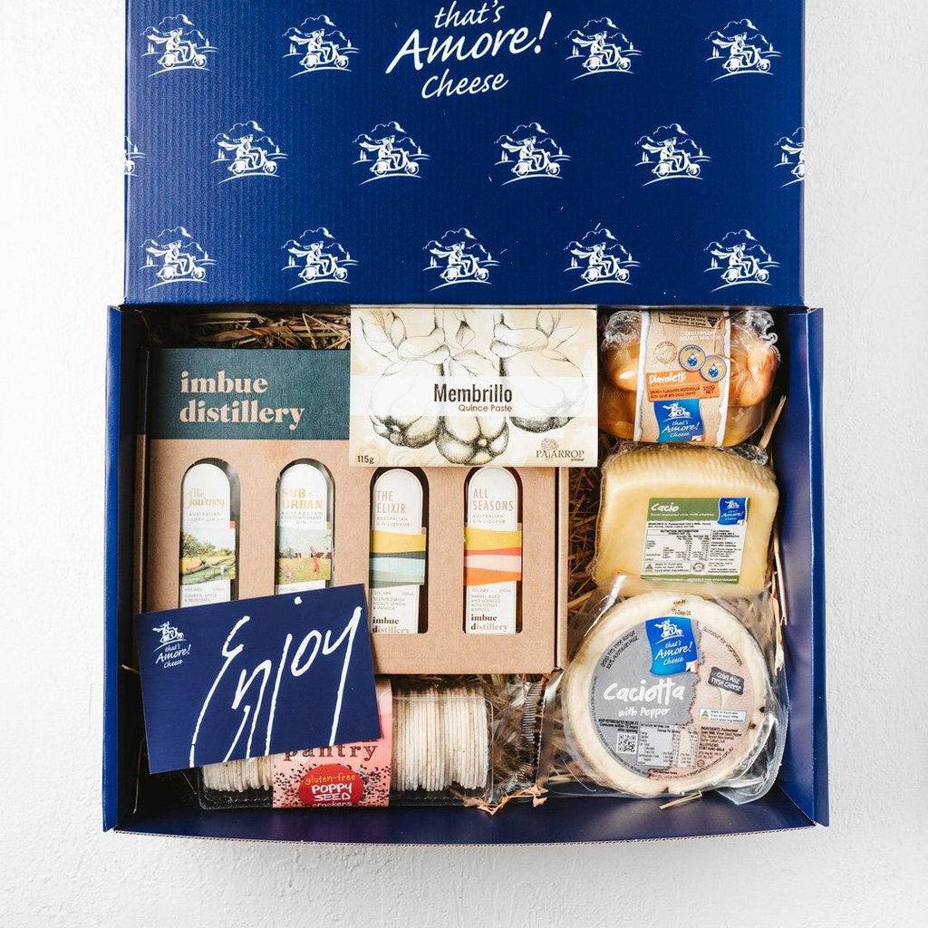 Cheese & Gin Hamper - That's Amore Cheese