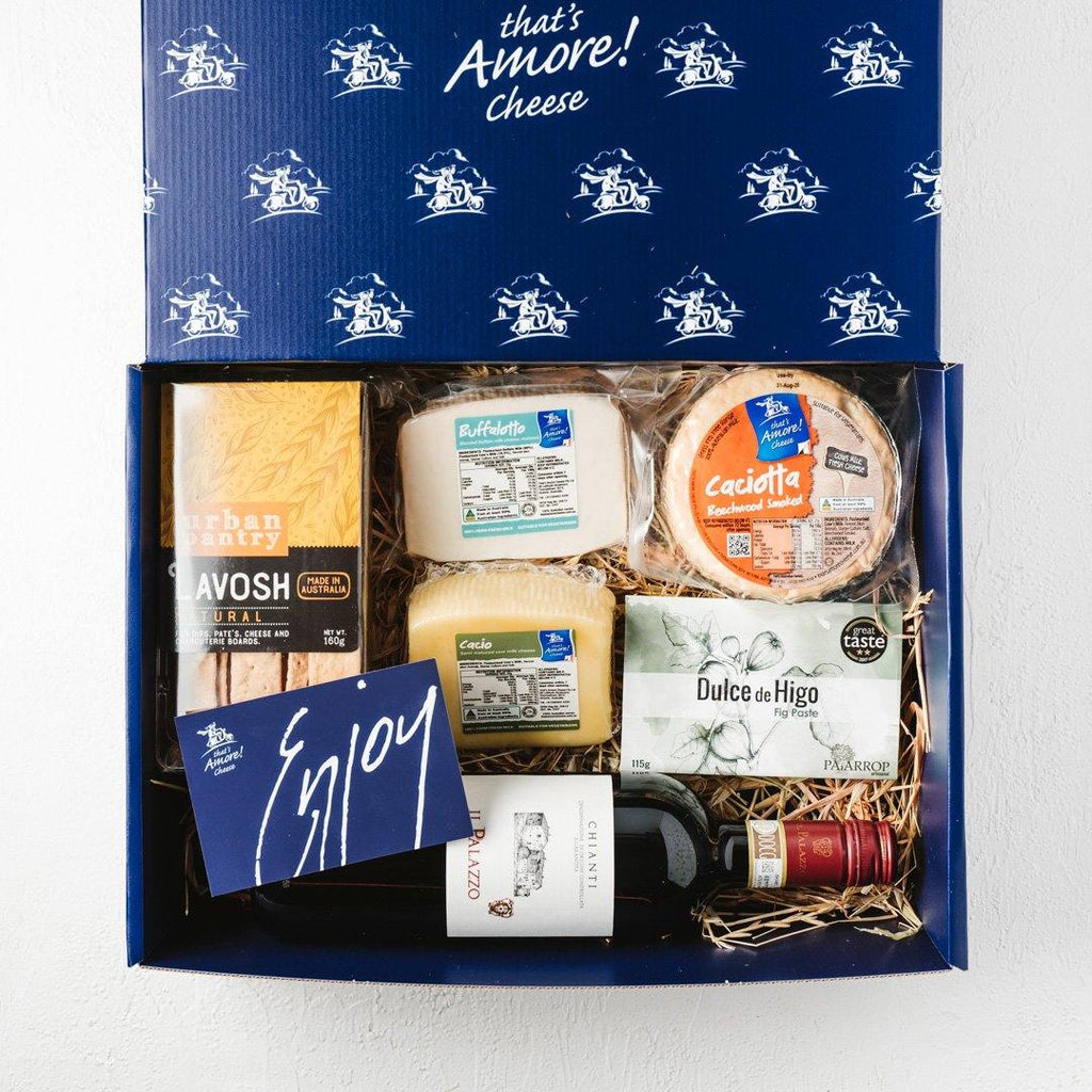 Cheese & Wine Hamper - That's Amore Cheese
