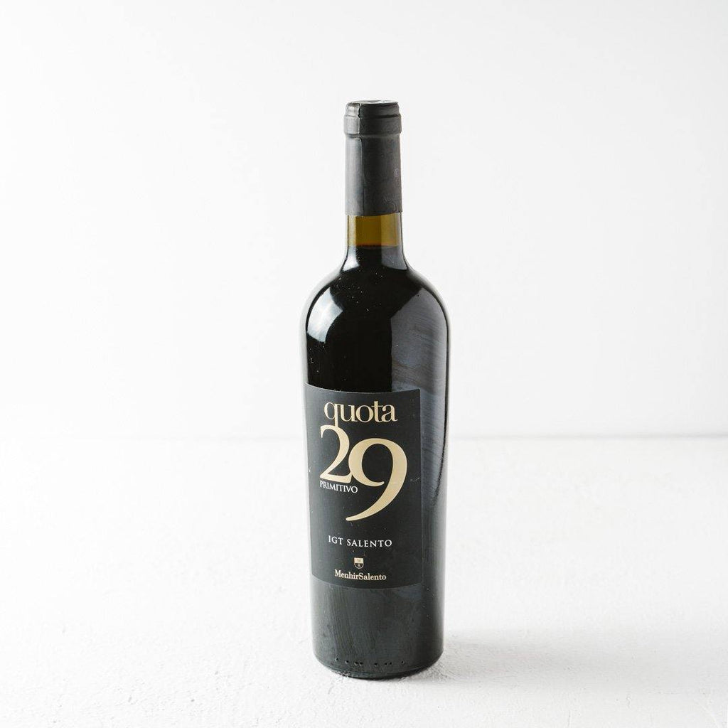 Primitivo Quota29 Wine - That's Amore Cheese