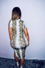 Load image into Gallery viewer, Neon Snake Dress