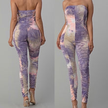 Load image into Gallery viewer, TIE DYE RUCHED JUMPSUIT