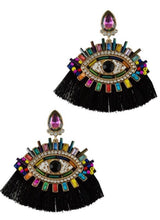 Load image into Gallery viewer, Beaded  Eye Charm Earrings
