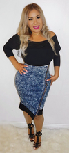 Load image into Gallery viewer, High Waist  Denim Pencil Skirt