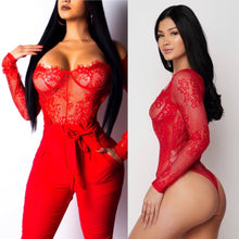 Load image into Gallery viewer, Sexy Red bodysuit
