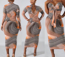 Load image into Gallery viewer, Marbled Midi Dress