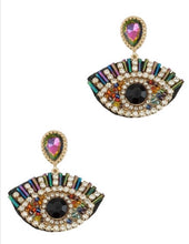 Load image into Gallery viewer, Jeweled  Eye Charm Earring
