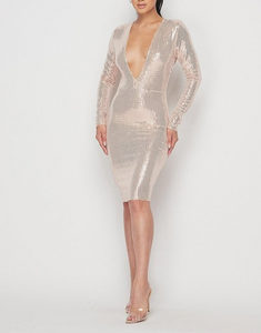 CHAMPAGNE DATE DRESS