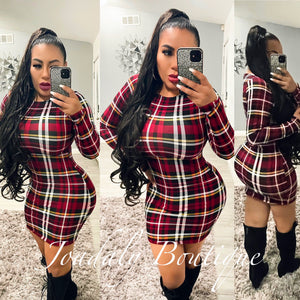 Diva Plaid Dress