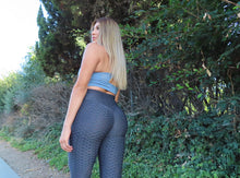 Load image into Gallery viewer, Grey Ruche Leggings