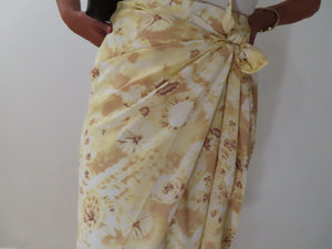 Summer Yellow Printed Maxi Skirt