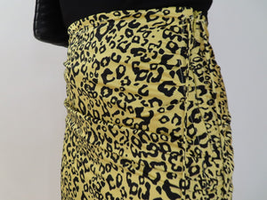 Leopard Maxi Ruched Skirt